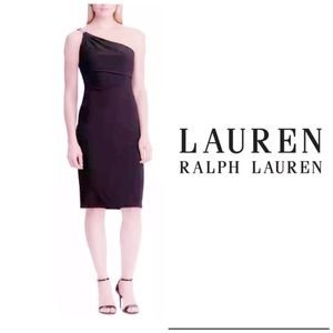 Lauren Ralph Lauren Purple Cocktail Dress Sz 12